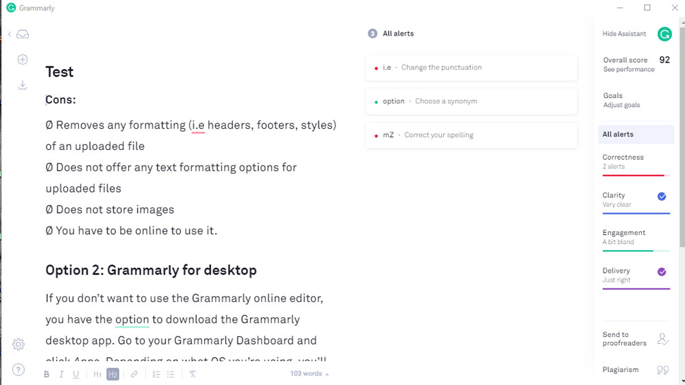 grammarly desktop screenshot